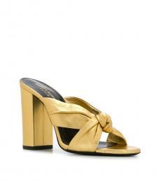Saint Laurent Gold Modish Heels