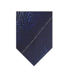 Black Gradient Zebra Print Tie