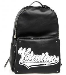 Valentino Garavani Black Rockstud Large Backpack