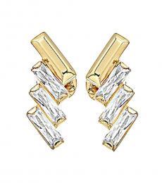 Michael Kors Metal Tie Affair Baguette Stud Earrings