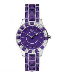 Christian Dior Purple Radiant Christal Watch