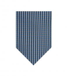 Blue Gingham Modish Tie