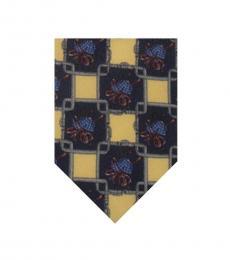 Dolce & Gabbana Blue Abstract Box Print Tie