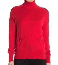 Engine Red Turtleneck Sweater