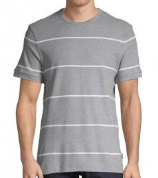 Silver Tiburt Striped T-Shirt