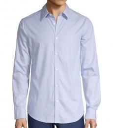 Cerulean Dot-Print Shirt