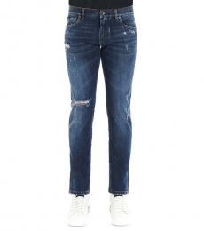 Denim Ribbed Slim Fit Jeans