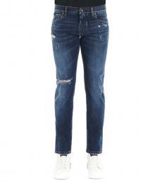 Dolce & Gabbana Denim Ribbed Slim Fit Jeans