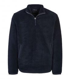 Fred Perry Dark Blue Zipped Collar Sweatshirt