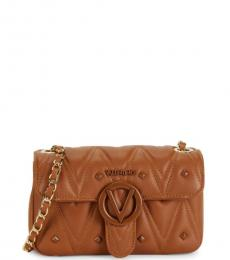 Mario Valentino Caramel Poisson D Sauvage Small Shoulder Bag