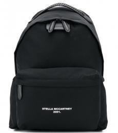 Stella McCartney Black Logo Go Large Backpack