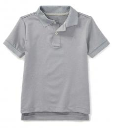 Little Boys Light Grey Performance Jersey Polo
