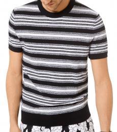 Michael Kors Black Striped Boucle Blend Sweater