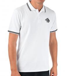 White Stretch Cotton Polo