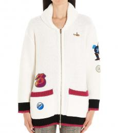 White Beatles Capsule Cardigan