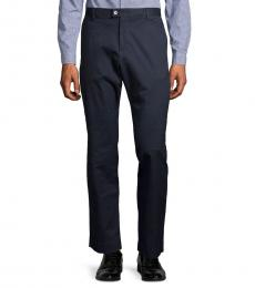 Calvin Klein Slate Blue Refined Stretch Pants