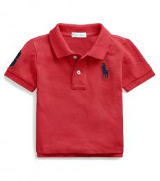 Baby Boys Sunrise Red Mesh Polo