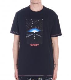 Marcelo Burlon Black Highway Print T-Shirt