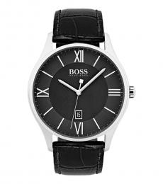 Hugo Boss Black Governor Leather Watch