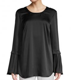 BCBGMaxazria Black Bell Sleeves Top