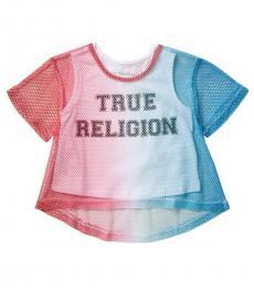 True Religion Little Girls Multicolor Printed Mesh T-Shirt