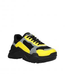 Balmain Yellow Front Logo Sneakers