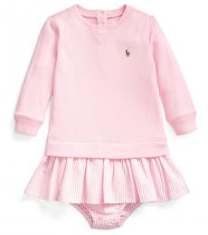 Ralph Lauren Baby Girls Pink French Terry Dress