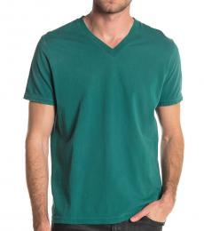 Teal Shoji V-Neck T-Shirt