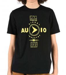 Diesel Black Printed Crew-Neck T-Shirt