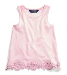 Ralph Lauren Little Girls Carmel Pink Tank Top