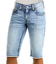 Indigo Relaxed Straight Shorts
