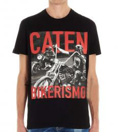 Dsquared2 Black Bikerismo Logo T-Shirt