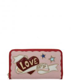 Pink Graphic Patch Wallet