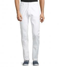 Michael Kors White Slim-Fit Stretch Jeans