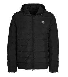 Fred Perry Black Quilted Logo Jacket