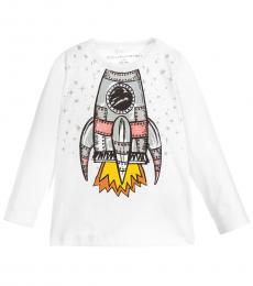 Stella McCartney Baby Boys White Rocket T-Shirt