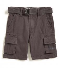 Little Boys Fog Twill Belted Shorts