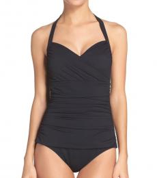 Black Island Solid One-Piece Swimsuit