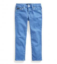Ralph Lauren Little Girls Blue Tompkins Skinny Fit Jeans