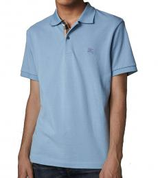 Burberry Pale Blue Classic Fit Polo