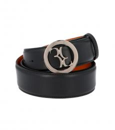 Billionaire Black Logo Buckle Belt
