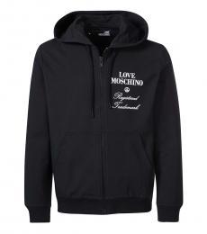 Love Moschino Black Graphic Logo Jacket