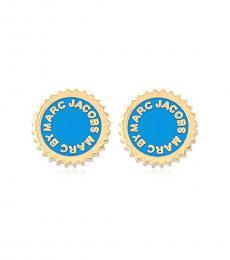 Marc Jacobs Blue Enamel Stud Earrings