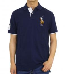 Ralph Lauren Navy Blue Classic Fit Mesh Polo