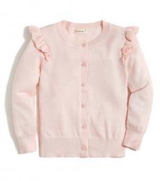 J.Crew Little Girls Sunwashed Pink Ruffle Cardigan