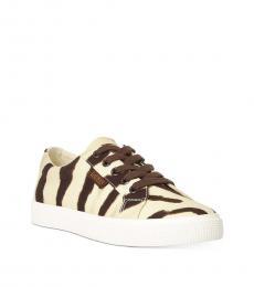 Ralph Lauren Zebra Print Jaycee Sneakers