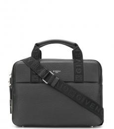 Givenchy Black Logo Large Briefcase Bag