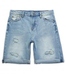 7 For All Mankind Boys Sundance Distressed Denim Shorts
