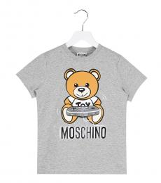 Moschino Boys Grey Teddy T-Shirt