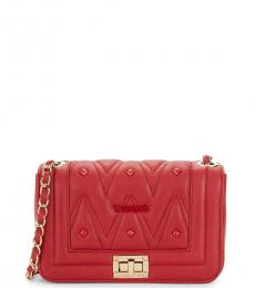 Mario Valentino Lipstick Red Beatrizd Quilted Small Shoulder Bag